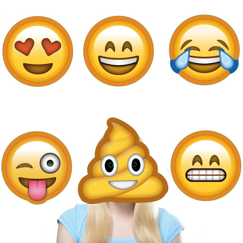 Emoji costumes masks