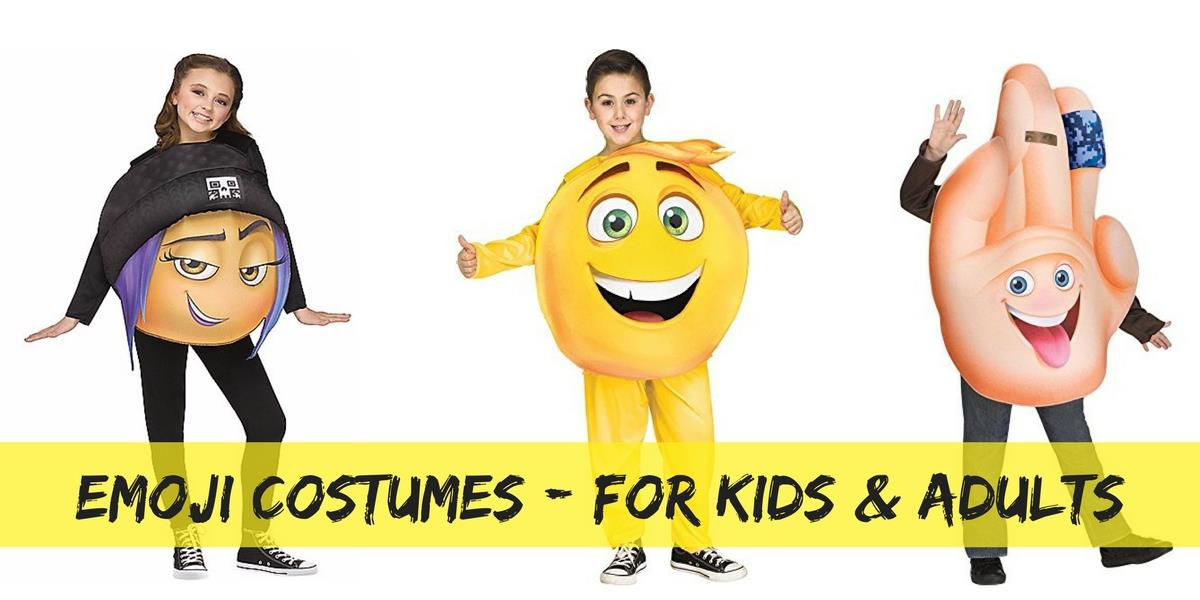 Emoji costumes for kids and adults
