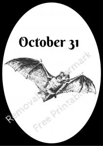Halloween Frame 3 Bat