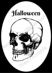 Halloween Frame 4 Skull