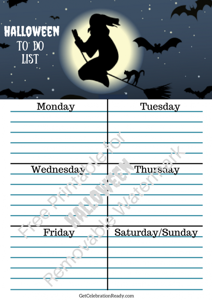 Halloween Printables Weekly List