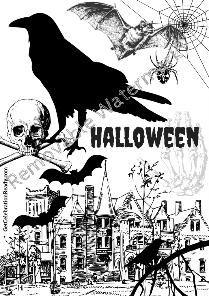 Free Halloween Printable for Frame