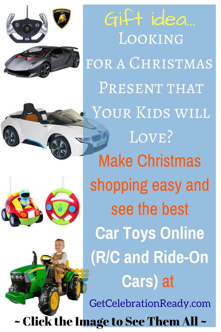 To see the best toy cars that you can give as Christmas presents, see these ride-on cars and R/C cars.