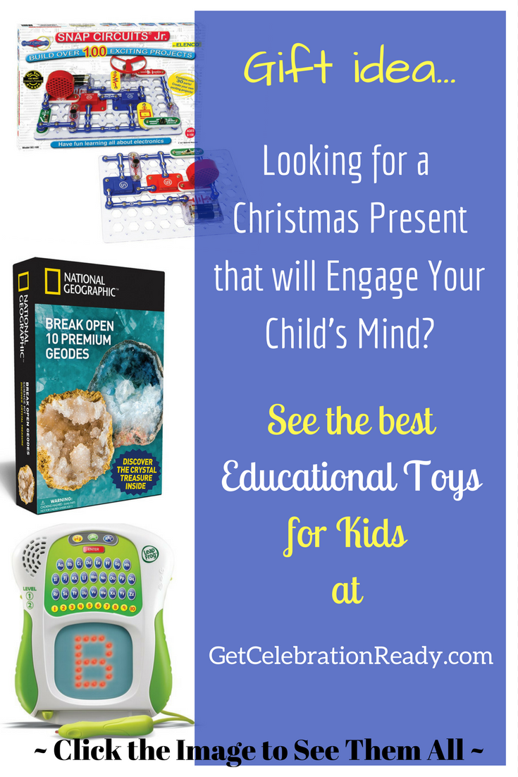 An Educational Toy makes a great Christmas present for a boy or a girl.