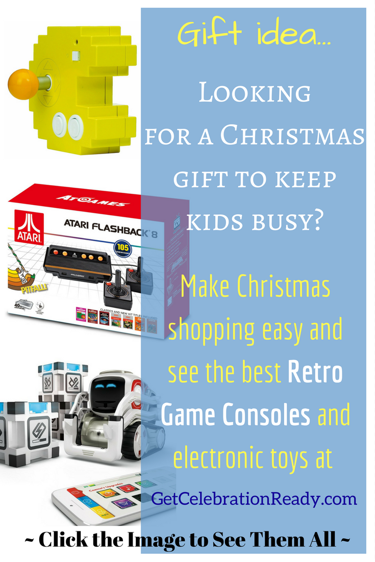 Retro Consoles and Electronic Games are big this year. They make great Christmas presents.
